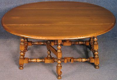 Ercol Elm And Beech Old Colonial Drop Leaf Coffee Table In Golden Dawn No 1