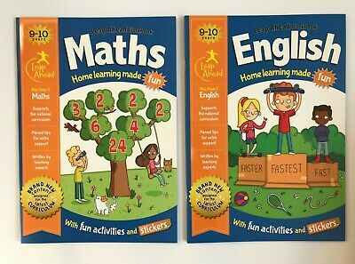 KS2 Maths & English Leap Ahead Home Learning Workbooks Set Ages 9-10 New Year 5