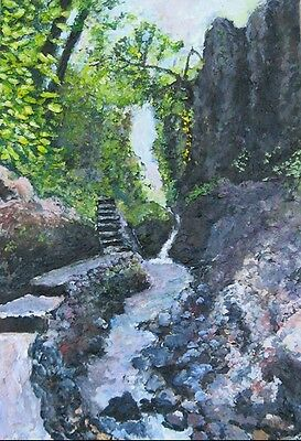 3d painting - tropical landscape original painting - Bali Indonesia 3d painting