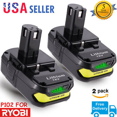 2X 2.5AH 18V For RYOBI ONE PLUS P102 P103 LITHIUM ION BATTERY P105 P104 P108 NEW