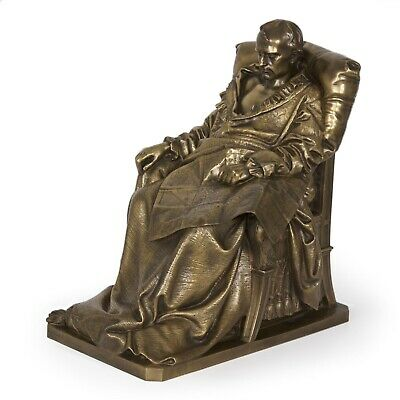 """French Antique Bronze Sculpture """"Last Days of Napoleon"""" by V.Vela & Barbedienne"""