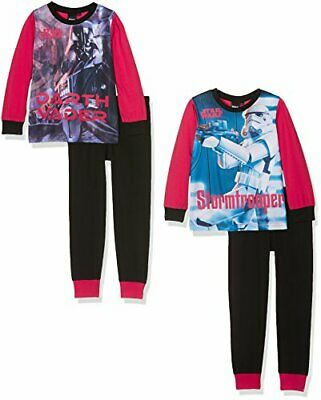 Boys Star Wars Pyjamas Pack of Two Darth Vader & Storm Trooper Age 7-8 Years