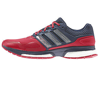 new style 67a18 575a2 Adidas Response 2 Techfit Mens Running Shoe - Red  Dark Blue
