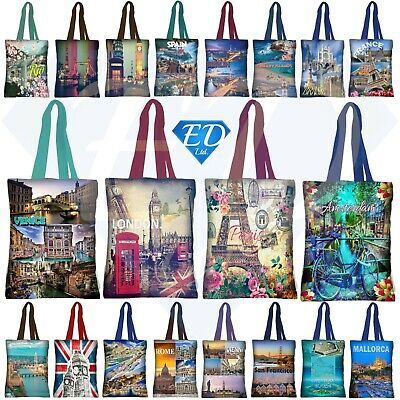 Reusable Foldable Bag Ladies Shopping Bag Eco City Travel Handbag Holiday Beach