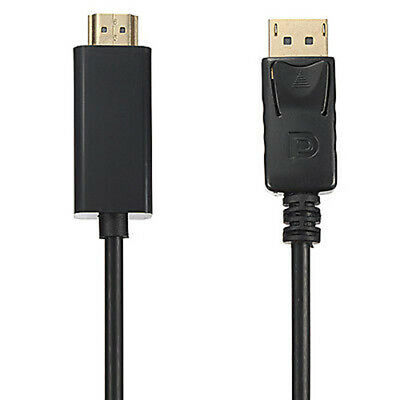 1.8m HD 1080P Display Port DP Male to HDMI Male AV Cable Adaptor for Laptop US