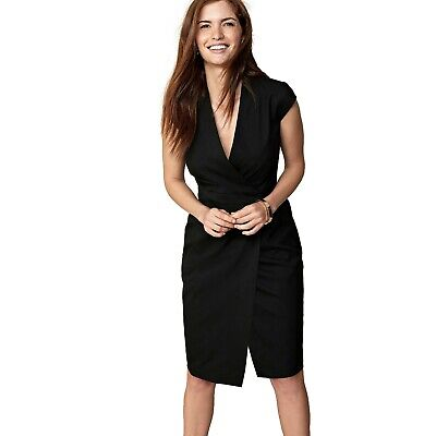so cheap wide selection of designs classic chic NEXT WOMEN BLACK Tailored Fit Wrap Dress Ladies Work Office Business Suit  Dress