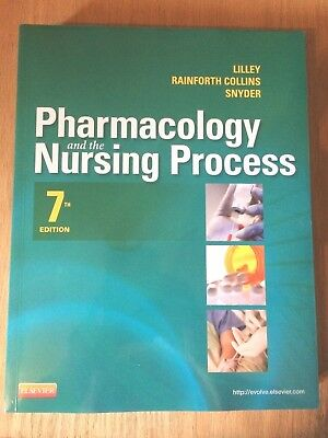 PHARMACOLOGY and the NURSING PROCESS Textbook ~ Lilley ~ 7th Edition (7e) ~ NEW