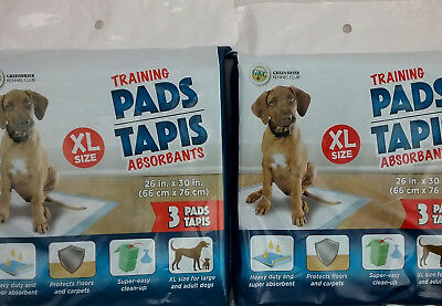 Puppy Training Pads Heavy Duty and Super Absorbent XL 26 x 30 Inch - 2 Packs (S)