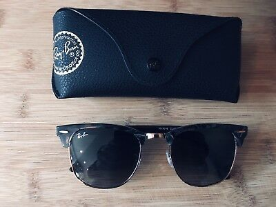 287241d0d1f Ray Ban Mens sunglasses Clubmaster 3016 spotted Grey Brand New in Box   case