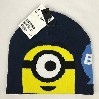 NEW UNIVERSAL DESPICABLE ME Minions Kids Hat Knit MINIONS Beanie Hat ... 0be4998b5402