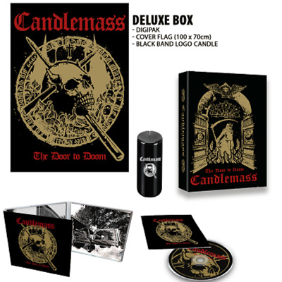 Candlemass The Door To Doom CD deluxe box set w/ candle and flag