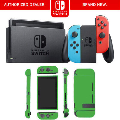 Nintendo Switch 32 GB Console with Neon Blue and Red Joy-Con Bundle w/ Lime Skin