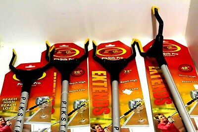 "(4) New Pik-Stik Pro Grabber Reacher Sticks Bundle Asst. Sizes 18"" 26"" 32"" 48"""