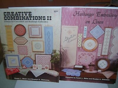 Meier Watnemo Hardanger 3 Book Lot Embroidery Creative Combinations II Keepsakes