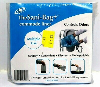 (10) New Sani-Bag+ Commode Multiple Use Liner