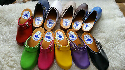 Clogs  Wooden Sole 100% Beach Leather Upper