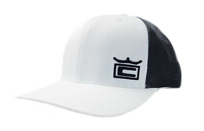 a1649734703c7 NEW Cobra Crown Trucker 110 Quarry White Black Adjustable Snapback Golf Hat  Cap