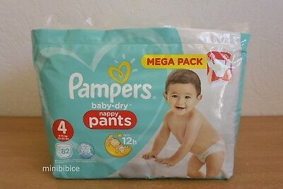 Mega Pack 82 Couches Culottes Pampers baby-dry Nappy Pants 9-15 Kg Taille 4