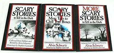 New Scary Stories to Tell in the Dark SET of 3 books by Alvin Schwartz - Pape...