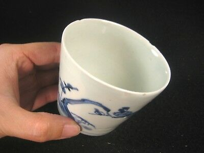 Antique Japanese 250 Year Old Hand Painted Imari Ceramic Soba Noodle Cup