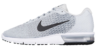 88868030305 NEW Men s Nike Air Max Sequent 2 Platinum Grey Knit Running Shoes Size 6.5