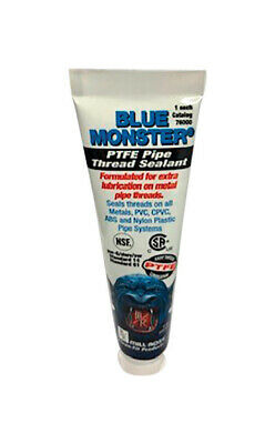 Blue Monster Pipe PTFE Thread Sealant - New 2 oz Squeeze tube - Industrial Grade