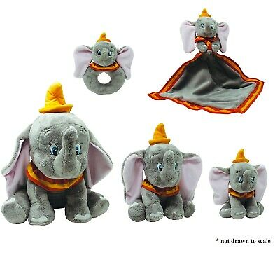Disney Baby Dumbo Ring Rattle, Comfort Blanket or Soft Toy (Small, Medium,Large)
