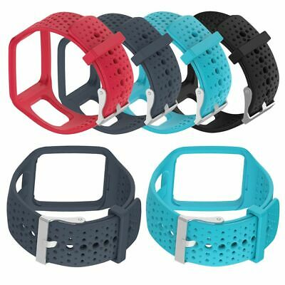 TomTom Spark and Runner 2 + 3 Replacement Watch Strap Silicone - Metal Buckle