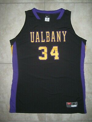 online store 61790 7709b VINTAGE NIKE SUNY University of ALBANY Great Danes Basketball #34 Jersey  USED XL