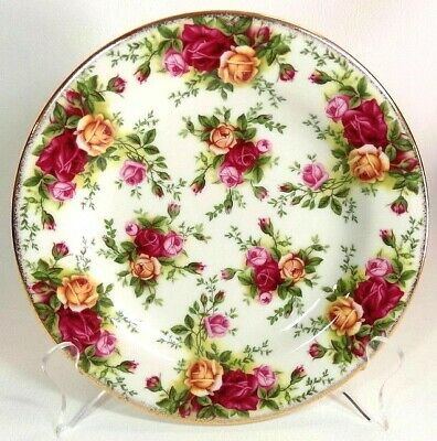 """Royal Albert Old Country Roses Classic III - 7 3/4"""" Salad Plates Cream"""