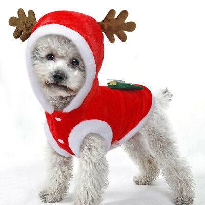 2019 Christmas Pet Dog Clothes Xmas Costumes Winter Coat Clothing Puppy Outfits