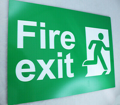 Aluminium Safety Sign Fire Emergency Exit Australia Made 10Yr Warranty
