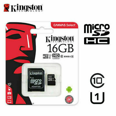 Kingston 16Gb Microsd SDHC Clase 10 Tarjeta de Memoria Sd Uhs-I Tf 80mb/S Sin A