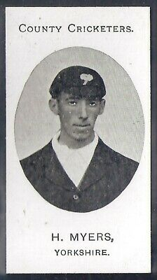 Taddy-County Cricketers Cricket 1907- Yorkshire - Myers