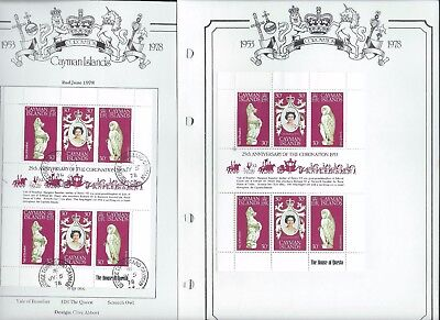 Cayman Islands stamps. 1978 Anniversary of Coronation Used & Unused. (A556)
