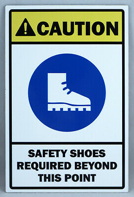 Aluminium Safety Shoes Sign Work Site Australia Made 10Yr Warranty