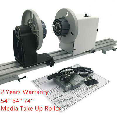 54'' 64'' 74'' Auto Media Take up Reel System Paper Pickup Roller with Motor New
