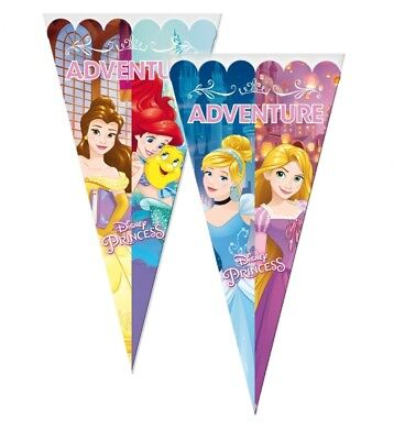 Disney Princess Large Sweet Cello Cone Loot Bags Birthday Party Length 40cms