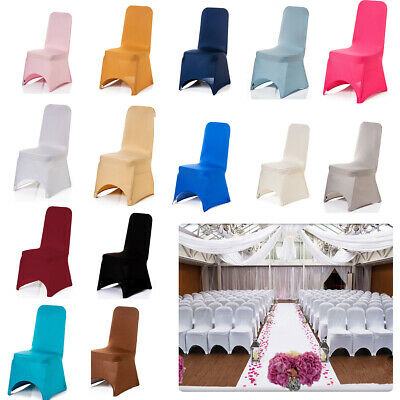 1/10pcs Dining Chair Cover Spandex Lycra Wedding Banquet Anniversary Party Décor