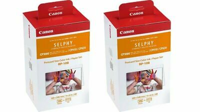 """2 x Canon KP-108in 4 X 6"""""""" Ink and Paper Set for SELPHY CP Series Photo Printers"""