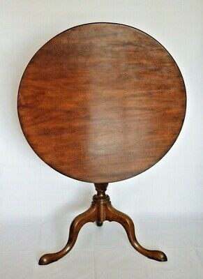 Antique Georgian c1800 Mahogany Tilt Top Table