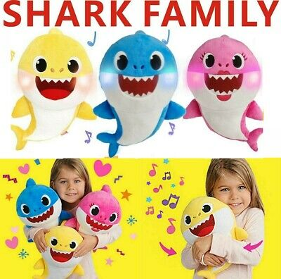 Baby Shark Plush Singing Plush Toys Music Song Doll English Creative Gift Toy UK