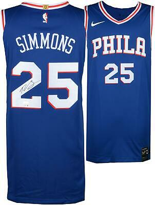 2834af133a3 Ben Simmons Philadelphia 76ers Signed Blue Nike Authentic Jersey - Upper  Deck