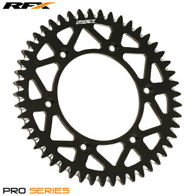 RFX Pro Series Elite Aluminium Black Rear Sprocket 52 Teeth CR125-500 CRF250-450
