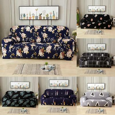 1/2/3/4 Seater Sofa Slipcover Stretch Protector Soft Couch Loveseat Chair Cover