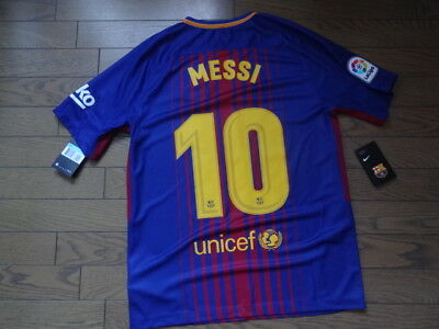 e6afb36b0 FC BARCELONA  10 Messi 100% Original Jersey Shirt M 2017 18 Home Kit ...