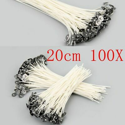 100pcs Candle Wick DIY Candle Making Pre Waxed With Sustainers Cotton Tools New