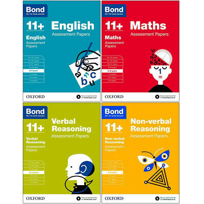 Bond 11+ Verbal Reasoning,English 4 Books Collection Assessment Papers 8-9 years