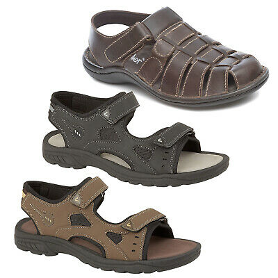 Mens Summer Sandals Sports Touch Fastening Straps Casual Hiking Trail Surf Shoes