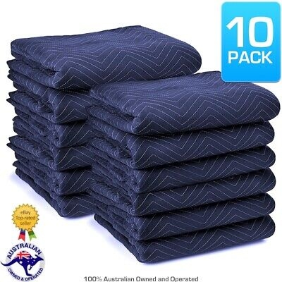 10 PACK Heavy Duty 1.8m x 3.4m Quilted Moving Blankets Furniture Removalist Pads